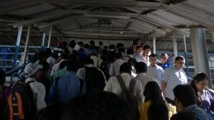 Mumbai Railway Station Crowds