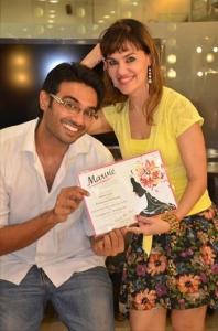 Rikhil Asrani with Caroline