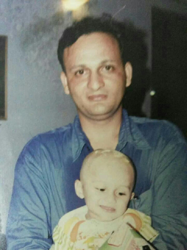 Vikram Singh with his son