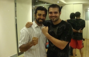 Somesh with Mahaakshay Chakraborty
